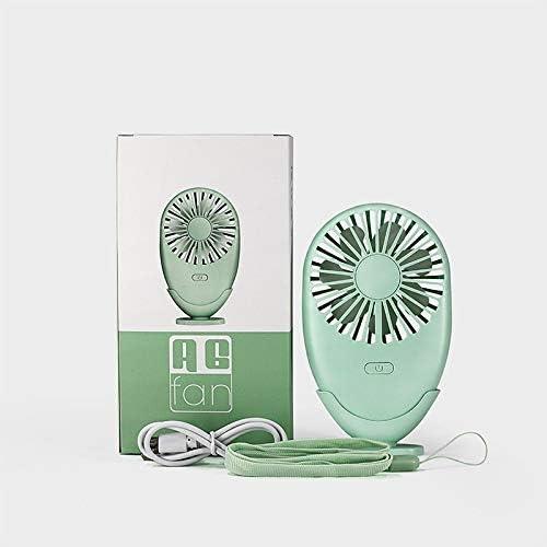 Color : Green Air Cooler Super Lightweight Portable Mini Fan USB Electric Fan Ventilator for Office Outdoor