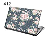 TaylorHe 15.6 inch 15 inch Laptop Skin Vinyl Decal with Colorful Patterns and Leather Effect Laminate MADE IN BRITAIN Vintage style Floral Patterns