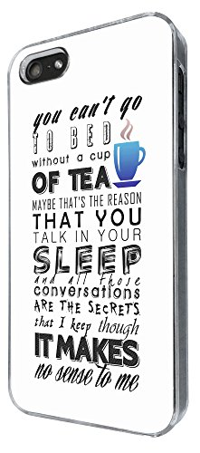779 - You Can't Go To Bed Without A Cup Of Tea Design iphone 4 4S Coque Fashion Trend Case Coque Protection Cover plastique et métal