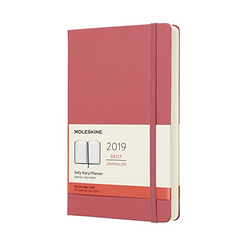 Moleskine Classic Hard Cover 2019 12 Month Daily Planner, Large (5