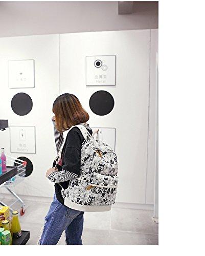 GZHOUSE - Bolso mochila  de Lona para mujer negro