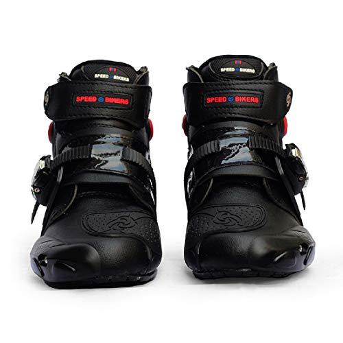 FULUOYIN Motorradstiefel Kurz Motorrad Schuhe Herren Kurzstiefel Sneaker Wasserabweisend mit Hartschalenprotektoren 40…