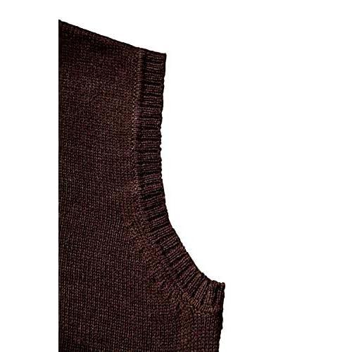 TINKUY PERU Peruvian Alpaca Wool Vest for Men Basic V Neck Sweater Pullover