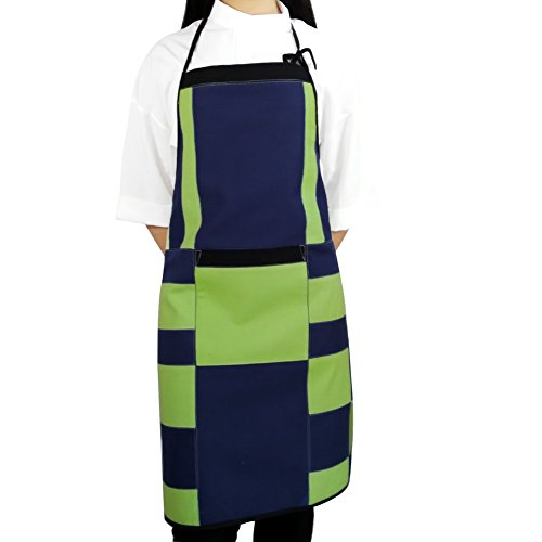 [Tempting Fate] Patchwork Chef Works/Art Works Bib Apron With Pocket (Fate Leather Jacket)