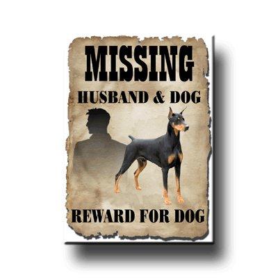 Doberman Pinscher Missing Reward Fridge Magnet No 1 ()