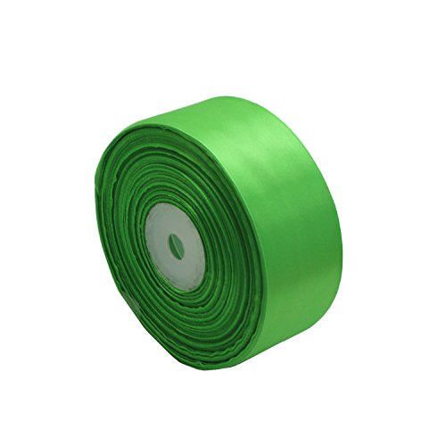 Model Worker 1-1/2 Wide Solid Single Face Satin Ribbon 50 Yards For Wedding Details, Sewing Projects, Gift Wrapping, Invitation Embellishments And Crafting Projects (Light Green)
