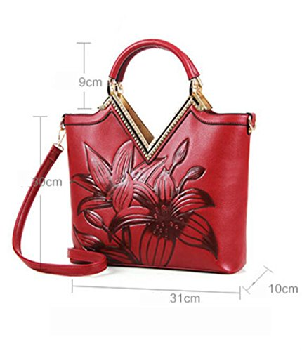 Shopping Designer Green Pelle Floral Per Pinchu Luxury red Morbida Bag Office Elegante Dating Tote Ufficio Stampa Borsa Donna qtTt6