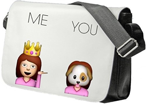 Schultertasche ME and YOU Arogant Eingebildet Hübsch und Hässlic Schultasche, Sidebag, Handtasche, Sporttasche, Fitness, Rucksack, Emoji, Smiley