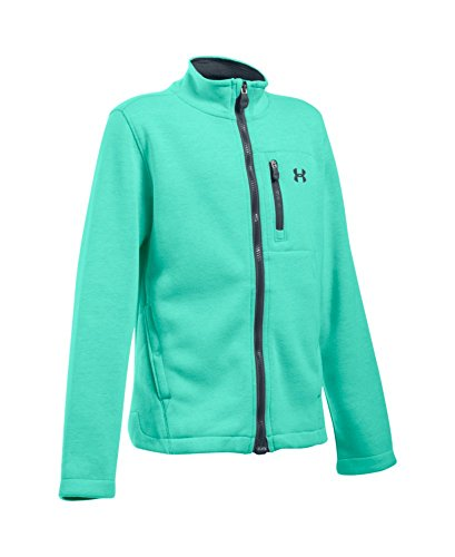 Under Armour Kids Girls Ua Granite Jacket  Big Kids  Crystal Crystal Stealth Gray X Small