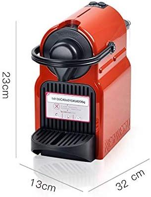 IMBM Nespresso Inissia Pequeño hogar Completamente automática de la cápsula de la máquina de café (Color : Red): Amazon.es: Hogar