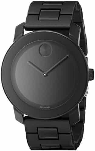 Movado Men's 3600047 Bold Black Stainless Steel Bracelet Watch