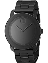 Movado Mens 3600047 Bold Black Stainless Steel Bracelet Watch