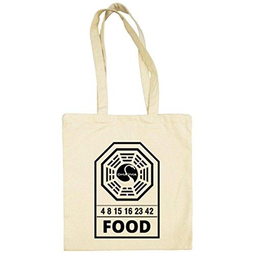 Bolsa de tela Lost Perdidos Dharma Food comida Estación Cisne Beige