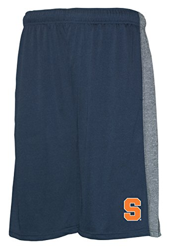 Old Varsity Brand NCAA Syracuse Orange Men's Poly Shorts with Side Panel, Navy/Grey, XX-Large (Mens Shorts Syracuse)