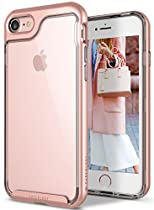 Caseology [Skyfall Series] Case for iPhone 7 / iPhone 8 - Transparent Clear Slim Design Scratch Resistant Protective Cover Air Space Technology - (Rose Gold)