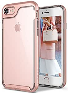 Caseology Skyfall Series iPhone 8/7 Cover Case with Clear Slim Protective for Apple iPhone 7 (2016)/iPhone 8 (2017) - Rose Gold