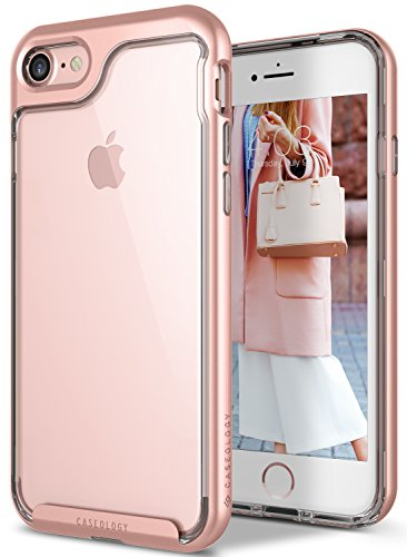Price comparison product image iPhone 7 Case, Caseology [Skyfall Series] Transparent Clear Slim Scratch Resistant Protective Cover Air Space Technology for Apple iPhone 7 (2016) - Rose Gold