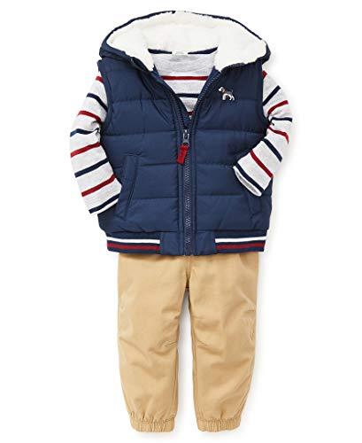 Little Me Boys' Toddler Jacket Set, Dog Medieval Blue/Fall Sand, 4T ()