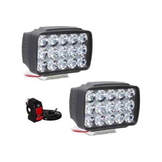 Petrox Fog Lamp, Headlight LED (Universal for Bike, Universal for Car, Pack of 2)