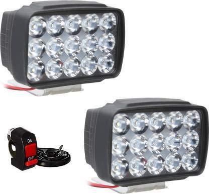 Petrox Fog Lamp, Headlight LED (Universal for Bike, Universal for Car, Pack of 2), Chrome