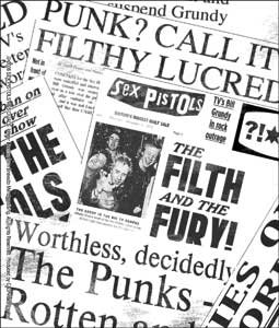 Sex Pistols Punk Rock Music Band Sticker - Newspapers