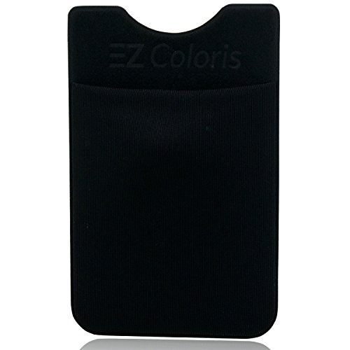 Card Holder EZColoris Cell Phone Credit Card Holder Flexible Lycra Pouch 3M Removable Adhesive Sticker on Wallet for 4-6inch Mobile Phones