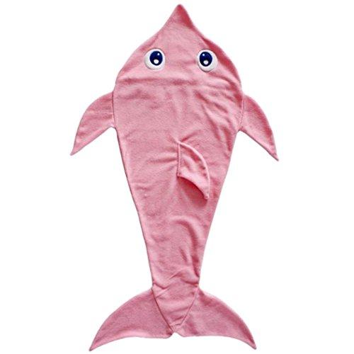 Mermaid Blanket, Justdolife Mermaid Sleeping Bag 3D Cartoon Dolphin Blanket Sofa Blanket Sleep Blanket for Kids (Dolphin Sofa)