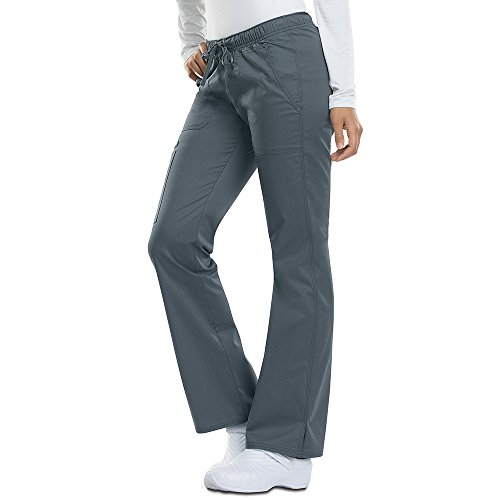 Dickies Gen Flex by Women's Low Rise Straight Leg Scrub Pant Medium Light Pewter