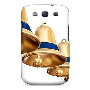 Defender Case For Galaxy S3, Golden Bells Pattern