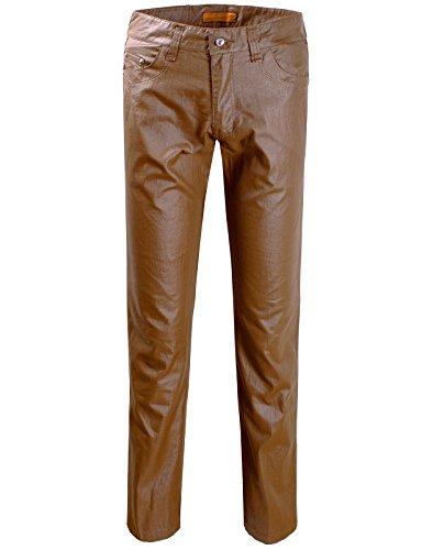 Brown Leather Motorcycle Trousers - 5