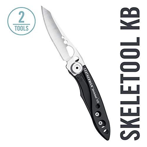 LEATHERMAN - Skeletool KB Pocket Knife with Bottle Opener, Black