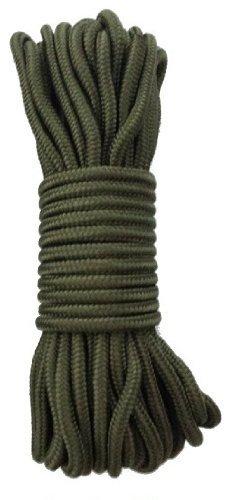 15 m Outdoor - Bundeswehr - Allzweck Reepschnur Tau Seil 5mm / 7mm / 9mm - für Survival, Bootsport, Sport, Camping, Segeln, Angeln, Fischen, Wandern - Original Inet-Trades GmbH Produkt (olivgrün, 7 mm)