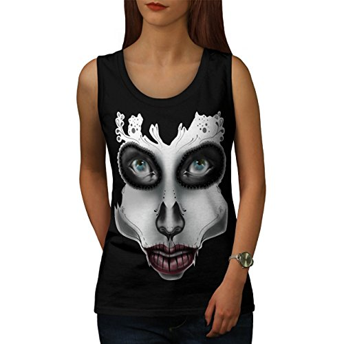 [Sugar Skull Make Up Beauty Face Women NEW S Tank Top | Wellcoda] (Sugar Skull Costume Tumblr)