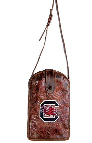 (GAMEDAY BOOTS NCAA South Carolina Fighting Gamecocks Women's Cross Body Purse, Brass, One Size)