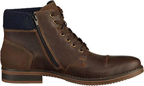 Rieker F3920-23 - Náuticos de Piel Lisa para hombre marrón marrón marrón