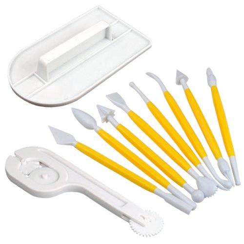 4 opinioni per TRIXES Kit di utensili professionali per pasta di zucchero per torte, kit per