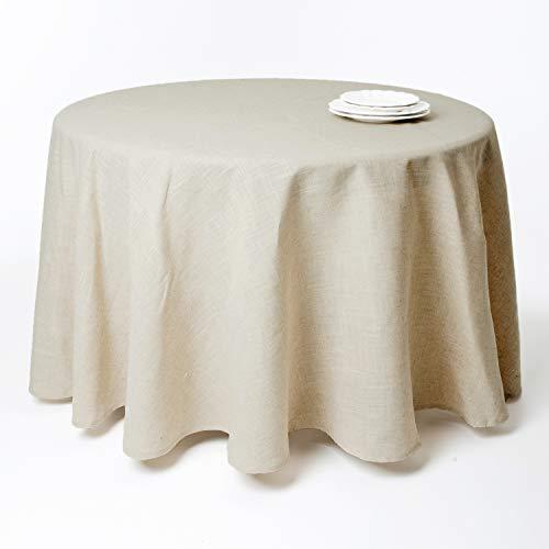 SARO LIFESTYLE 731 Toscana Tablecloths, 108-Inch, Round, Natural