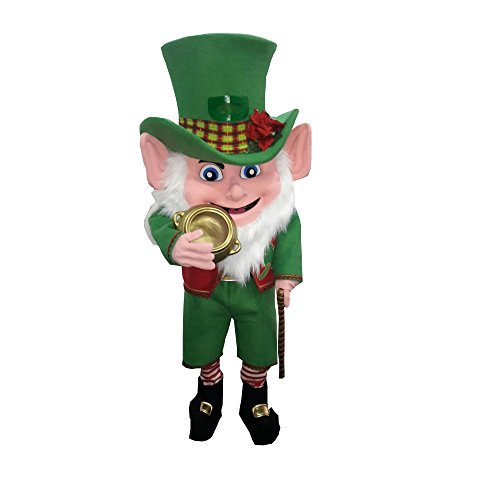 Leprechaun Irish Mascot Costume Party Character Adult ST Patrick Lucky Charm -