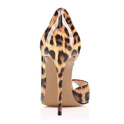 Aiguille Escarpins Ubeauty Stiletto Pumps Soles Heels Toe Peep Talon Rouge High Sandales Sexy Femmes Chaussures Léopard 8qTwxpdT