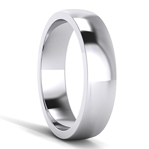 LANDA JEWEL 5mm Heavy Sterling Silver Comfort Fit Polished Womens Wedding Ring Plain Band (9) by LANDA JEWEL (Image #2)