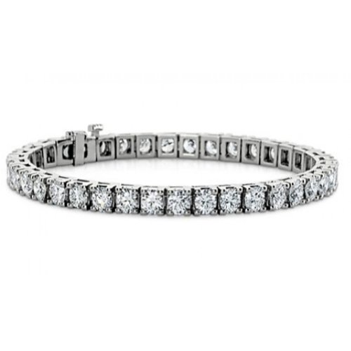 Madina Jewelry 3.00 ct Ladies Round Cut Diamond Tennis Bracelet in 14 kt White Gold ()