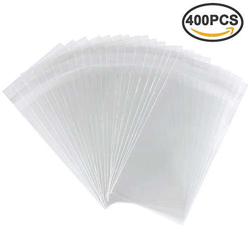 Clear Cello Cellophane Bags Self Sealing Treat Bags Plastic Bag for Bakery, Candy, Soap, Cookie (3'' x 5'') by Erlvery DaMain
