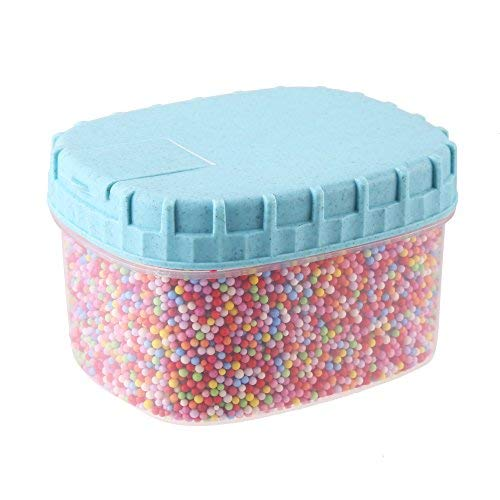 DIYASY 35000pc 2-3mm Rainbow Styrofoam Foam Ball Beads for DIY Crafts and Kids Homemade Slime Making ()