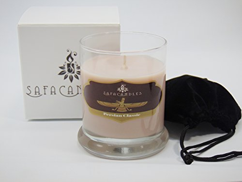 Safa Candles, Persian Classic Candle - 8.5 Oz. Highly Scented Gift Box Candle - Soy Wax Candles (Persian ()