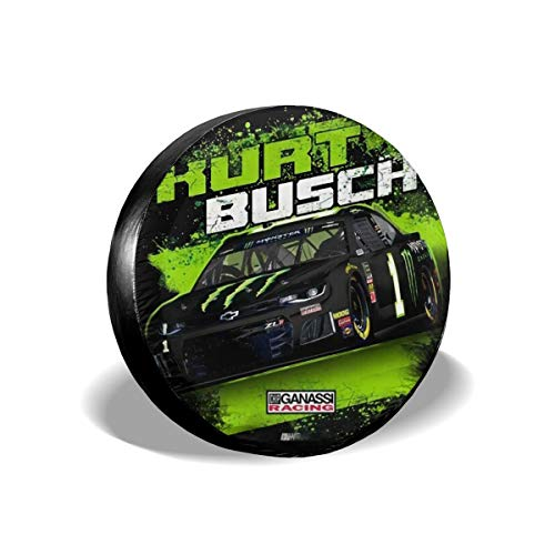 Mr.ChenHong Spare Tire Cover Waterproof Dust-Proof Universal Spare Wheel Tire Cover Kurt Busch Monster 2019 NASCAR Contender Driver