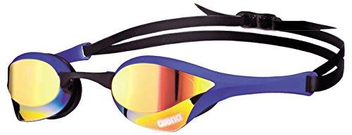 Pro Adult Goggle - arena Cobra Ultra Mirror Swim Goggles, Yellow Copper/Blue