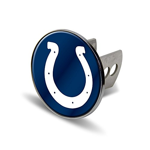 Rico NFL Indianapolis Colts Laser Cut Metal Hitch Cover, Large, Silver