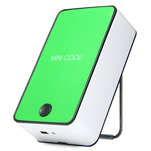 Wooboo Mini Cooli Portable USB Rechargeable HandHeld Air Conditioner Summer Cooler Fan,Batteries Powered No Leaf Fan for Kids (Green) by Wooboo (Image #10)