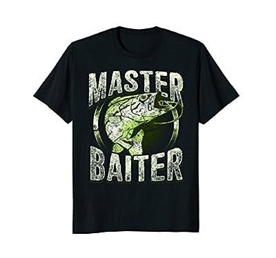 MASTER BAITER tshirt - Funny Fishing Novelty Gift shirt