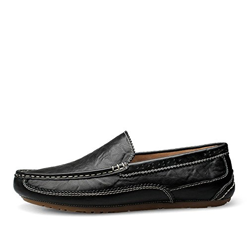 formale shoes Mocassini Business EU da Uomo Da Bare Dimensione Vamp Color Scarpe Wing on uomo 42 Flat tip 2018 leggeri Sole Soft Slip Mocassini Mocassini Shufang Edge Nero Bpd1Bq